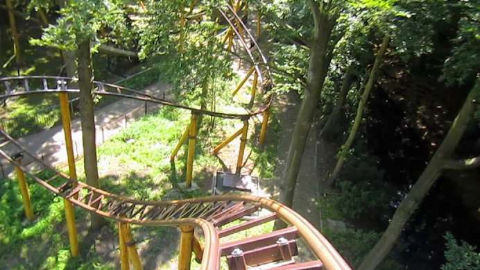 Dragonfly onride - front of the rollercoaster